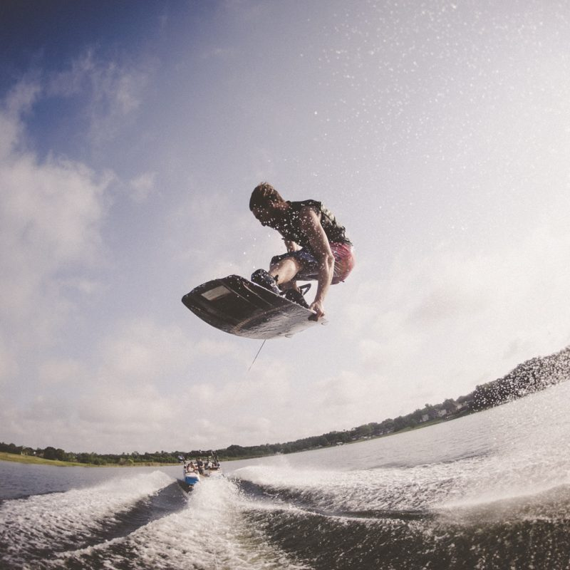 Wakeboarding on Lake Granby